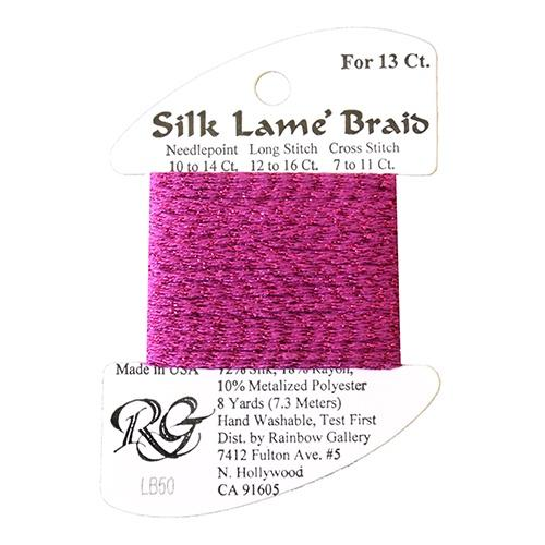 #13 Silk Lame Braid - 050 Fuschia Thread Threads