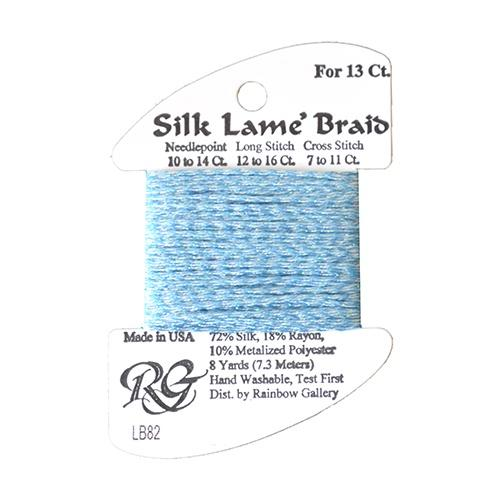 #13 Silk Lame Braid - 082 Lite China Blue Thread Threads