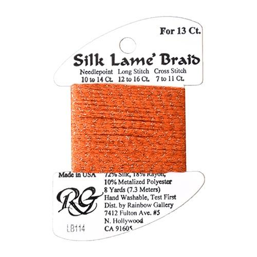 #13 Silk Lame Braid - 114 Lite Pumpkin Thread Threads