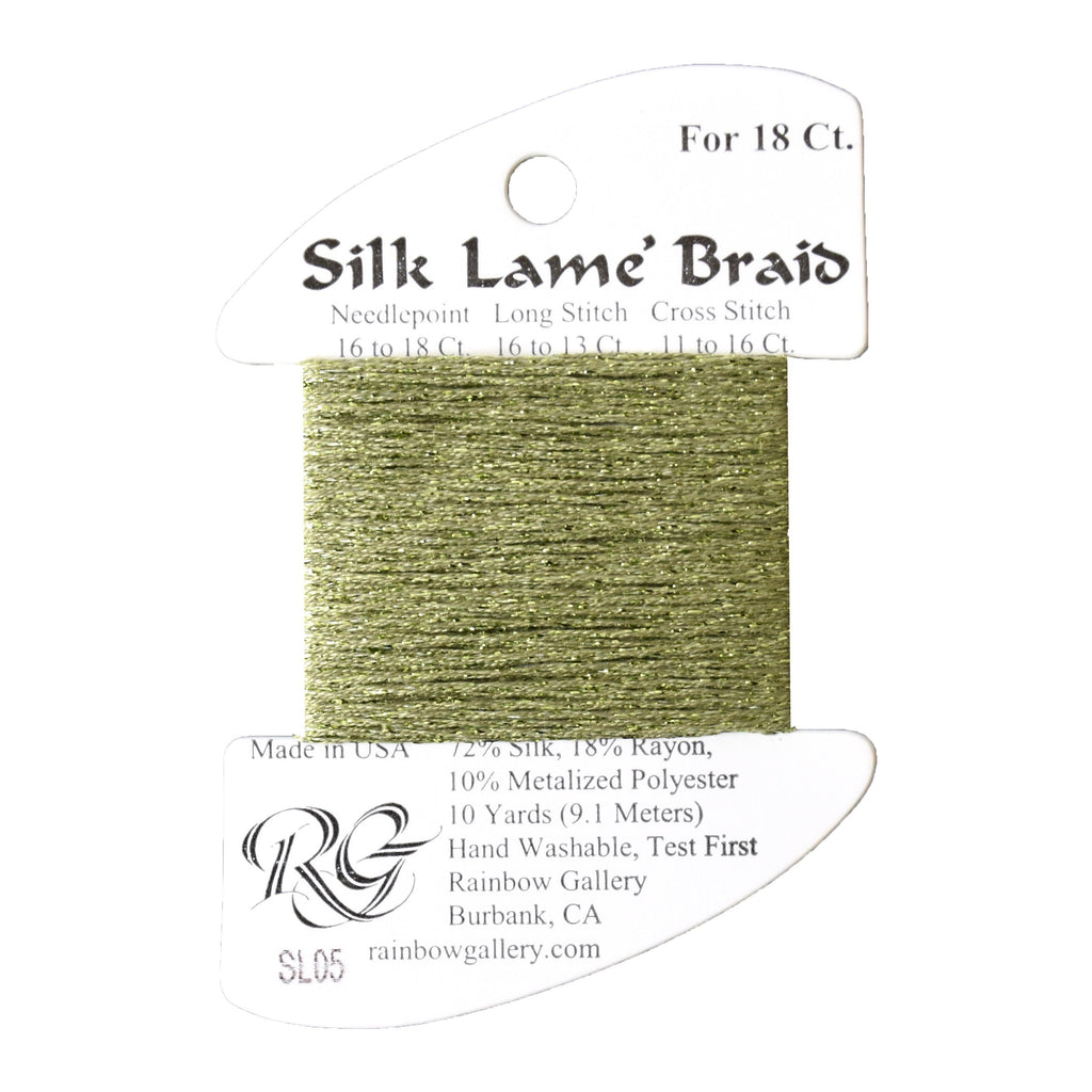 #18 Silk Lame Braid - 005 Avocado Thread Threads