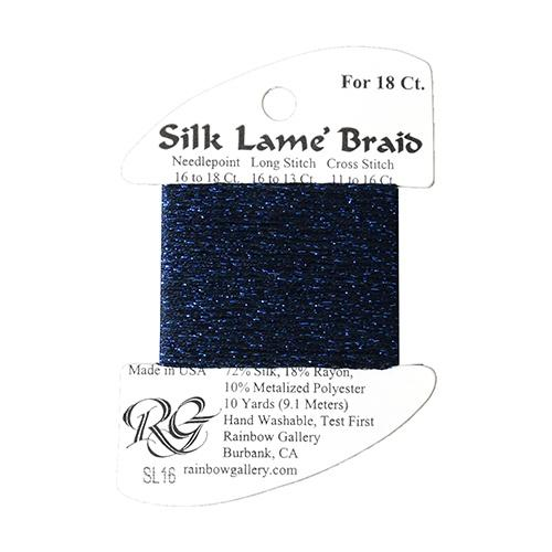 #18 Silk Lame Braid - 016 Navy Thread Threads