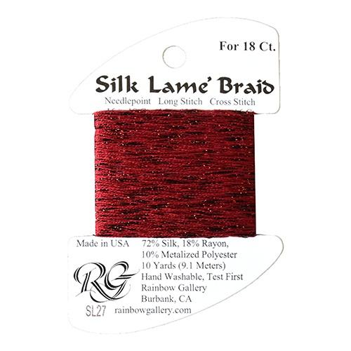 #18 Silk Lame Braid - 027 Garnet Thread Threads