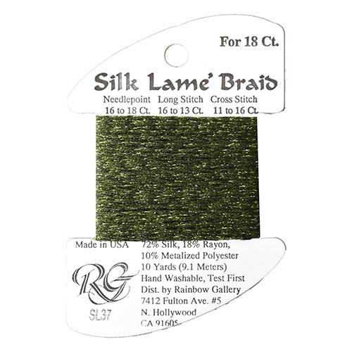#18 Silk Lame Braid - 037 Dark Avocado Thread Threads