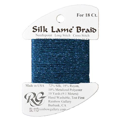 #18 Silk Lame Braid - 113 Dark Lagoon Thread Threads