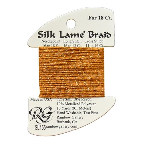 #18 Silk Lame Braid - 155 Harvest Gold Thread Threads