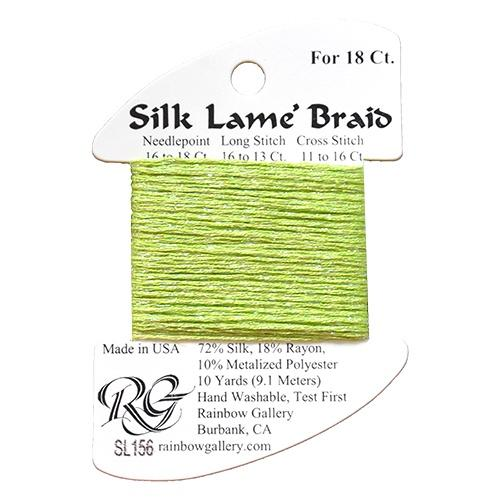 #18 Silk Lame Braid - 156 Kiwi Thread Threads