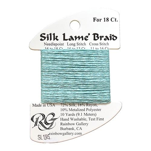#18 Silk Lame Braid - 195 Marine Blue Thread Threads