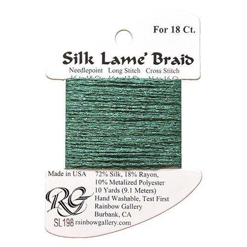 #18 Silk Lame Braid - 198 Wasabi Thread Threads