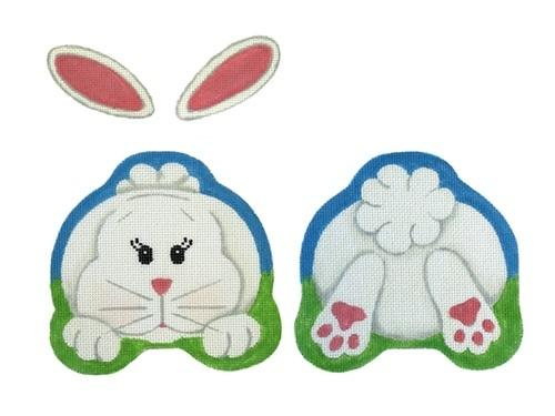 2 Sided Bunny Painted Canvas Pepperberry Designs