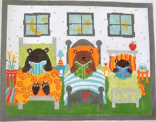 3 Bears Painted Canvas Pippin