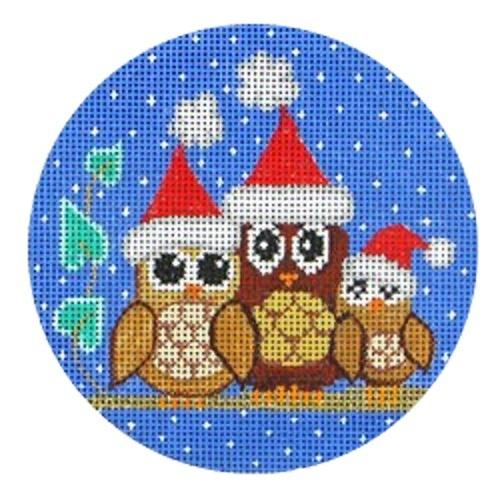 3 Owls Painted Canvas Vallerie Needlepoint Gallery