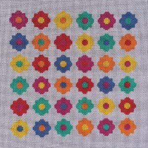 36 Little Flowers Needlepoint Kit Painted Canvas Little Bird Designs