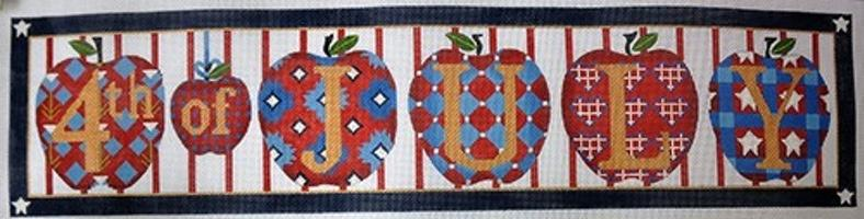 4th of July Apples Painted Canvas Melissa Shirley Designs