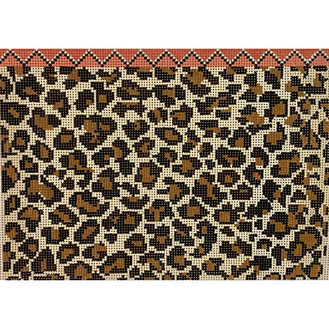 Leopard Print Clutch Needlepoint Canvas by Hello Tess