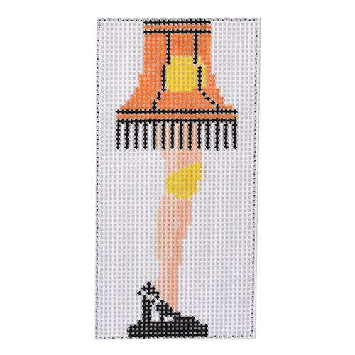 A Christmas Story Leg Lamp Painted Canvas Two Sisters Needlepoint