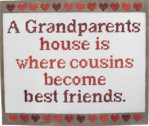 A Grandparents House Is... Painted Canvas CBK Needlepoint Collections