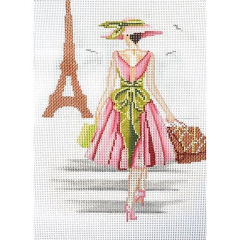 A Walk in Paris Painted Canvas Alice Peterson Company