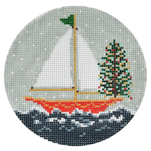 A -wassailing Ornament Painted Canvas The Plum Stitchery
