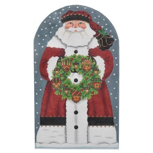 Acorn Santa Dome Painted Canvas Melissa Shirley Designs