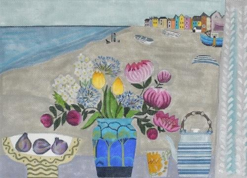 Agapanthus & Figs Painted Canvas Melissa Shirley Designs