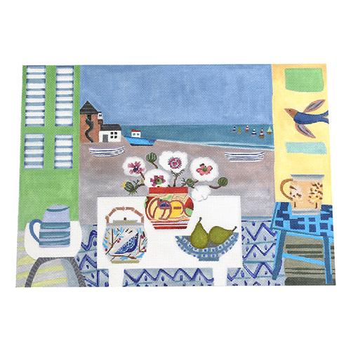 Aldeburgh Beach Painted Canvas Melissa Shirley Designs
