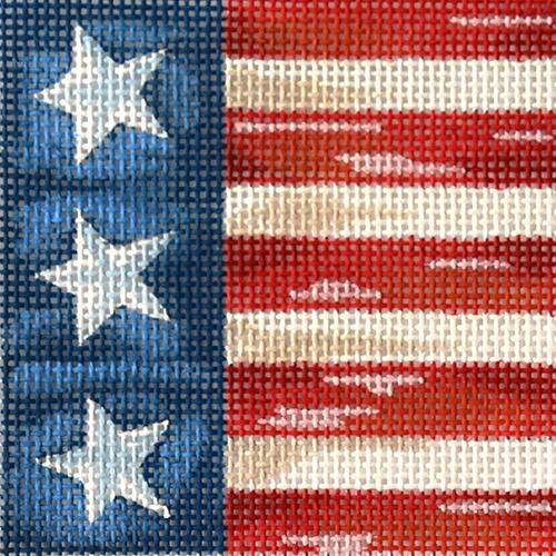 All American Flag IV Painted Canvas All About Stitching/The Collection Design