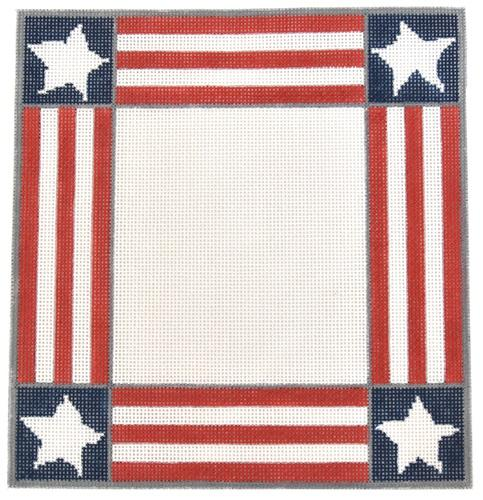 America Frame Painted Canvas Susan Wallace Barnes