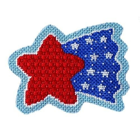 Americana - Shooting Star with Stitch Guide Painted Canvas Needlepoint.Com