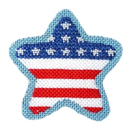 Americana - Star Flag with Stitch Guide Painted Canvas Needlepoint.Com