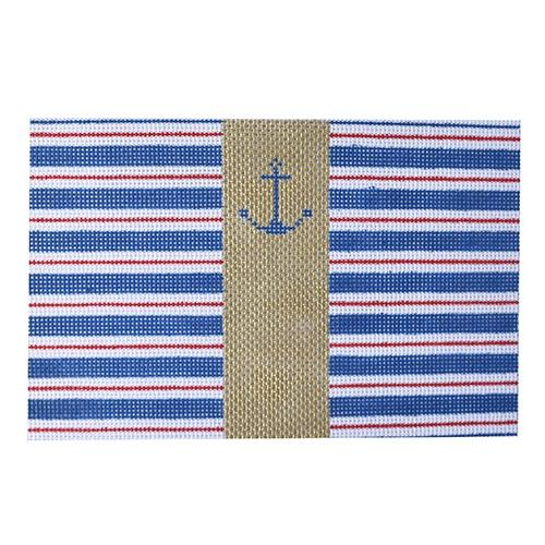 Anchor and Stripes Painted Canvas Kimberly Ann Needlepoint
