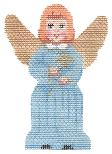Angel with Star Painted Canvas Labors of Love Needlepoint