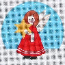 Angel/Star Painted Canvas Vallerie Needlepoint Gallery