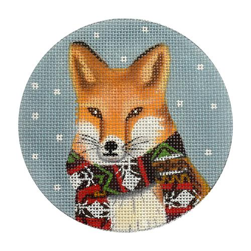 Animal Ornaments - Fox Painted Canvas Mary Lake Thompson