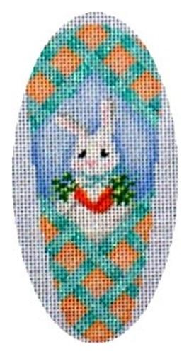 Aqua Lattice / Bunny / Carrots Carrot Painted Canvas Associated Talents
