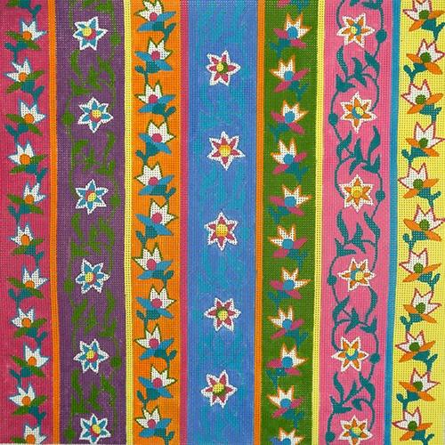 Arabesque Stripes Painted Canvas Julie Mar Needlepoint Designs