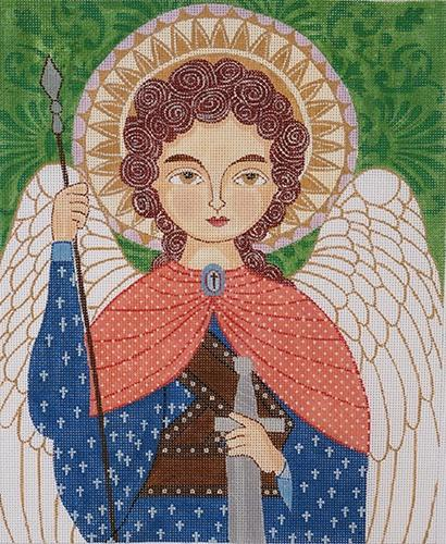 Archangel Michael Painted Canvas Love You More