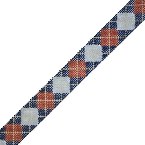 Argyle Belt - Grey/Red/Khaki on 18 Painted Canvas The Meredith Collection