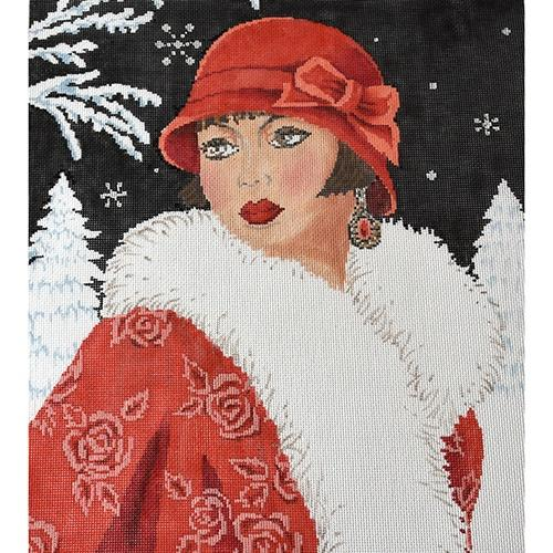 Art Deco Lady Winter GENERAL The Meredith Collection