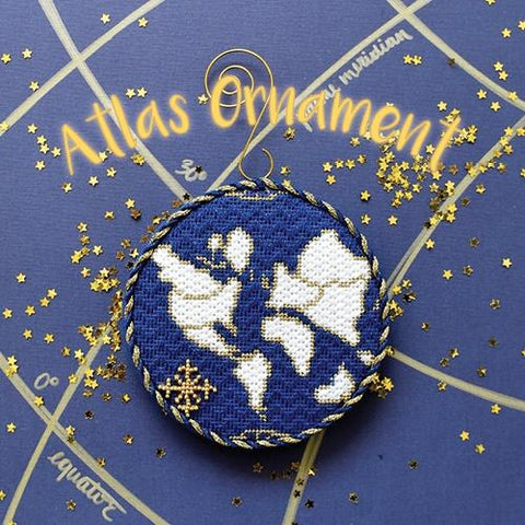 Atlas Ornament Kit & Online Class Online Classes The Plum Stitchery