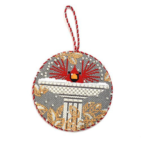 B-r-r-r-d Bath Ornament Painted Canvas Charley Harper
