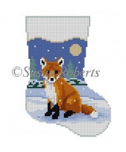 Baby Fox Mini Stocking Painted Canvas Susan Roberts Needlepoint Designs, Inc.
