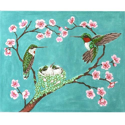 Baby Hummer Love Painted Canvas The Meredith Collection
