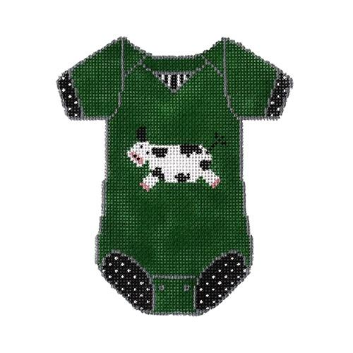 Baby Onesie - Cow Painted Canvas The Meredith Collection