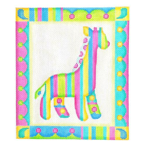 Baby Sign - Giraffe Painted Canvas Burnett & Bradley