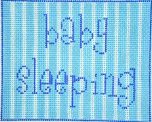 Baby Sleeping Blue Painted Canvas All About Stitching/The Collection Design