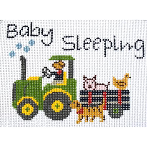 Baby Sleeping - Farmer Joe Painted Canvas J. Child Designs