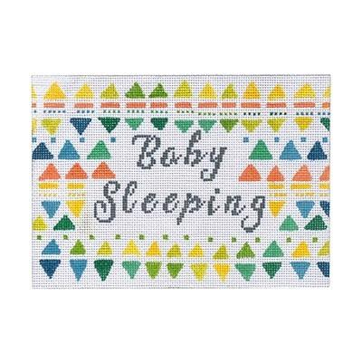 Baby Sleeping - Neutral Painted Canvas Burnett & Bradley