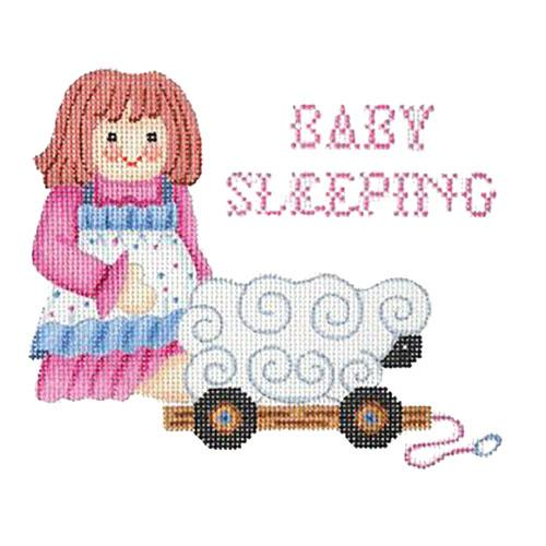 Baby Sleeping Sign - Doll Painted Canvas Burnett & Bradley