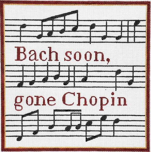 Bach Soon, Gone Chopin Painted Canvas Raymond Crawford Designs