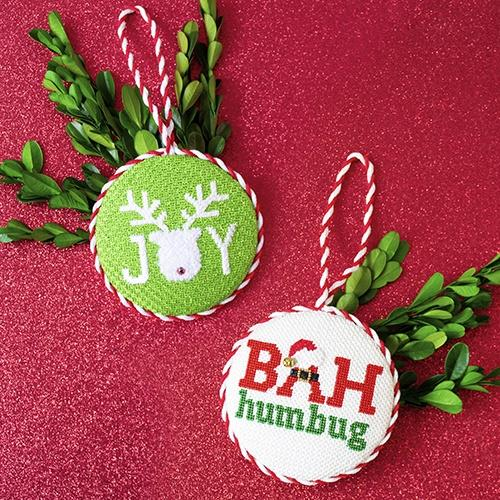 Bah Humbug / Joy Double Sided Ornament Kit & Online Class Online Classes Pepperberry Designs